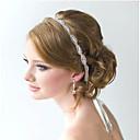 זול תכשיטים לשיער-לבן רצועות ראש תכשיט לשיער קריסטל קריסטל זירקון אבן נוצצת