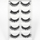 cheap Makeup & Nail Care-5 pairs thick black false eyelashes clear strip lash mink lashes part event high quality wedding makeup