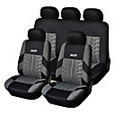 cheap Vehicle Seat Covers & Accessories-5 Seats Universal Car Seat Cover Black/Gray Textile Material Vehicle Seat Coler (9 pcs per kit)