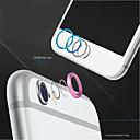 hesapli Cep Telefonu Süsleri-yüksek kaliteli metal ev düğmesi kapağı halkası koruyucusu daire + alüminyum alaşımlı iphone 6 / 6s kamera lens kapağı koruma artı