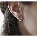 hesapli Küpeler-Kadın's Vidali Küpeler - minimalist tarzı, Moda Siyah / Gümüş / Altın Uyumluluk Parti Günlük / 2pcs
