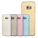 voordelige Galaxy S-serie hoesjes / covers-hoesje Voor Samsung Galaxy Samsung Galaxy S7 Edge Transparant Achterkant Effen Kleur TPU voor S7 edge plus S7 edge S7 S6 edge plus S6