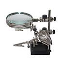 preiswerte Mikroskope & Endoskope-helfende dritte Handlöten mit 5-fach Lupe stehen