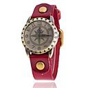 levne Pánské-Dámské Náramkové hodinky Křemenný Kůže Černá / Bílá / Modrá Velký ciferník Analogové Přívěšky Klasické Na běžné nošení Módní - Červená Zelená Modrá