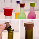 cheap Barware & Openers-Candy Color Silicone Bottle Stopper Fresh Beer Food Grade Cork Cruet Random Color