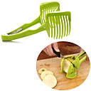 cheap Fruit & Vegetable Tools-Handheld Fruit Slicer Tomato Cutter Lemon Potato Egg Clip Holder