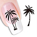 cheap Makeup & Nail Care-1 pcs 3D Nail Stickers Water Transfer Sticker nail art Manicure Pedicure Lovely Abstract / Fashion Daily