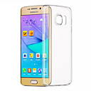 cheap Galaxy S Series Cases / Covers-ASLING Case For Samsung Galaxy Samsung Galaxy S7 Edge Transparent Back Cover Solid Colored TPU for S7 edge / S7