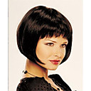 hesapli Makyaj ve Tırnak Bakımı-Sentetik Peruklar Düz Bob Saç Kesimi / Kısa Bob / Bantlı Sentetik Saç Peruk Kadın's Şort Bonesiz