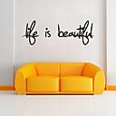 ieftine Cabluri & Adaptoare-Cuvinte & Citate Perete Postituri Autocolante perete plane Autocolante de Perete Decorative, PVC Pagina de decorare de perete Decal Perete