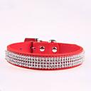 preiswerte Hundehalsbänder, Geschirre & Leinen-Hund Halsbänder Regolabile / Einziehbar Strass PU-Leder Schwarz Rose Rot Blau Rosa