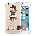 abordables Coques d'iPhone-Coque Pour Apple iPhone X / iPhone 8 / iPhone 6 Plus Antichoc / Transparente / Motif Coque Femme Sexy Flexible Silicone pour iPhone X / iPhone 8 Plus / iPhone 8