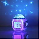 ieftine Tricouri LED-1 buc Music Ceas alarmă Sky Projector NightLight Plin de Culoare Baterii AAA Powered Pentru copii / Schimbare - Culoare / Decorațiuni