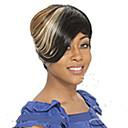 hesapli Makyaj ve Tırnak Bakımı-Sentetik Peruklar Düz Sentetik Saç 8 inç Çoklu-renk Peruk Kadın's Şort Bonesiz Karışık Renk hairjoy