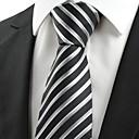 hesapli Kravatlar-Erkek Parti / İş / Temel Boyun Bağı Çizgili