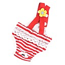 hesapli Kedi Oyuncakları-Köpek Pantolonlar Köpek Giyimi Çizgi Mavi Kırmızı/Beyaz Pamuk Kostüm Evcil hayvanlar için Kadın's Günlük/Sade