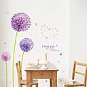 halpa Sisustustarrat-Maisema Romantiikka Kukkakuviot Kasvitiede Wall Tarrat Lentokone-seinätarrat Koriste-seinätarrat, PVC Kodinsisustus Seinätarra Seinä