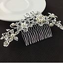 ieftine Bijuterii de Păr-Pentru femei Floral Elegant & Luxos Cristal Imitație de Perle Diamante Artificiale Veșminte de cap Piepteni de Păr Nuntă Petrecere