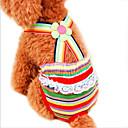 hesapli Kedi Oyuncakları-Kedi Köpek Pantolonlar Köpek Giyimi Çizgi Gökküşağı Pamuk Kostüm Evcil hayvanlar için Cosplay Düğün
