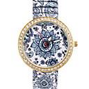hesapli Bilezikler-Kadın's Moda Saat Sahte Elmas Saat Quartz imitasyon Pırlanta Alaşım Bant Analog Çiçek Çok-Renkli - 1#