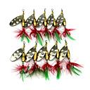 ieftine Momeală Pescuit-10 pcs Δόλωμα Buzzbait & Momeli spinnerbait Linguri Pană MetalPistol Scufundare Scufundare Rapidă Pescuit mare Pescuit de Apă Dulce Alte / Momeală pescuit / Pescuit în General