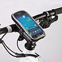 hesapli Bisiklet Işıkları-ROSWHEEL Cep Telefonu Çanta / Bisiklet Gidon Çantaları 4.8 inç Dokunmatik Ekran Bisiklet için Samsung Galaxy S6 / iPhone 5C / iPhone 4/4S Siyah / iPhone 8/7/6S/6 / Su Geçirmez Fermuar