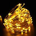 preiswerte LED Lichtstreifen-10m Leuchtgirlanden 100 LEDs LED Diode Warmes Weiß / Weiß / Rot Wasserfest / Wiederaufladbar 100-240 V / IP65