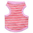 preiswerte Bekleidung & Accessoires für Hunde-Katze Hund T-shirt Hundekleidung Streifen Blau Rosa Baumwolle Kostüm Für Haustiere Herrn Damen Modisch