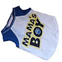 preiswerte Bekleidung & Accessoires für Hunde-Hund T-shirt Hundekleidung Buchstabe & Nummer Weiß / blau Baumwolle Kostüm Für Haustiere
