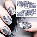 hesapli Makyaj ve Tırnak Bakımı-1 pcs Su Transferi Sticker tırnak sanatı Manikür pedikür Moda Günlük