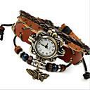 preiswerte Damenuhren-Damen Modeuhr / Armband-Uhr Leder Band Böhmische Braun