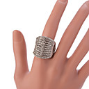 hesapli Vücut Takıları-Kadın's Bildiri Yüzüğü / Ayarlanabilir halka - alaşım Vintage, Moda Ayarlanabilir Gümüş Uyumluluk Parti / Günlük / Kristal / Yapay Elmas