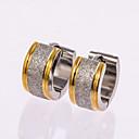 hesapli Makyaj ve Tırnak Bakımı-Erkek Vidali Küpeler Halka Küpeler - Altın gül, Som Gümüş Gümüş Uyumluluk Düğün Parti Günlük