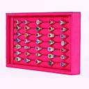 Недорогие Упаковка и стенды для украшений-Квадратный Коробки для бижутерии / Подставки для бижутерии - Мода Розоватый, Черный и белый 23 cm 14.5 cm / Жен.
