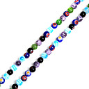 cheap Beads & Beading-DIY Jewelry 38cm/str(approx 60pcs) Rainbow Bead DIY Necklace Bracelet