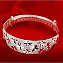 hesapli Kolyeler-Kadın's Bilezikler - Som Gümüş Moda Bilezikler Gümüş Uyumluluk Yılbaşı Hediyeleri