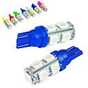 hesapli LED Araba Ampulleri-JIAWEN 10pcs T10 Araba Ampul 1.2W SMD 5050 85lm Stop lambası / Dekoratif Lamba / Çalışma Işığı