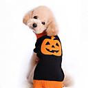 hesapli Köpek Giyim ve Aksesuarları-Kedi Köpek Kazaklar Köpek Giyimi Balkabağı Siyah Pamuk Kostüm Evcil hayvanlar için Erkek Kadın's Sevimli Cadılar Bayramı