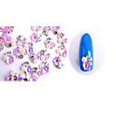 hesapli Makyaj ve Tırnak Bakımı-10 pcs Tırnak Takısı Sevimli tırnak sanatı Manikür pedikür Günlük madeni / Çiçek / inci / Nail Jewelry / Metal
