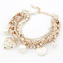 preiswerte Ohrringe-Damen Perle Bettelarmbänder - Künstliche Perle Herz Modisch Armbänder Beige / Rosa / Hellblau Für Alltag