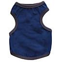 hesapli Köpek Giyim ve Aksesuarları-Kedi Köpek Tişört Köpek Giyimi Solid Koyu Mavi Gri Koyu Gri Terylene Kostüm Evcil hayvanlar için Erkek Kadın's Moda