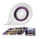 hesapli Makyaj ve Tırnak Bakımı-30colors çizgi bant hattı tırnak sanat dekorasyon çıkartmaları - bedava bant rulo dağıtıcı