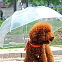 저렴한 강아지 의류 & 악세사리-강아지 우산 애완동물 캐리어 방수 휴대용 솔리드 투명