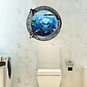 저렴한 장식 스티커-데코레이티브 월 스티커 - 3D 월 스티커 3D 거실 / 침실 / 화장실 / 이동가능