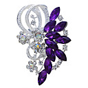 cheap Brooches-Women's Brooches - Rhinestone Vintage, Fashion Brooch Purple / Blue For Wedding / Party / Special Occasion