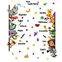 Недорогие Гаджеты для ванной-Животные Наклейки Наклейки для животных Декоративные наклейки на стены, Винил Украшение дома Наклейка на стену Стена