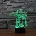 hesapli Fırın Araçları ve Gereçleri-1 parça 3D Gece Görüşü Kısılabilir USB Çok Renkli Plastik 1 Lamba Pil Dahil Değildir 23.0*17.0*5.0cm