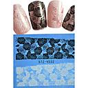 ieftine Machiaj & Îngrijire Unghii-1 pcs Unghii False Integrale Bijuterie unghii Lace Stickers nail art pedichiura si manichiura Încântător Floare / Desen animat / Nuntă Zilnic / Unghiul de bijuterii
