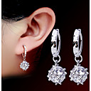 ieftine Imbracaminte & Accesorii Căței-Pentru femei Cercei Rundă femei Modă Perle Imitație de Perle cercei Bijuterii Argintiu Pentru Petrecere Zilnic