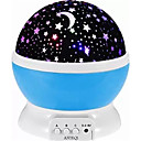hesapli LED Duş Başlıkları-1set MOON Gwiazda Gökyüzü Projektörü NightLight Renkli AAA Pilleri Güçlendirildi USB Çocuklar için Kısılabilir USB Kablosu ile Romantik